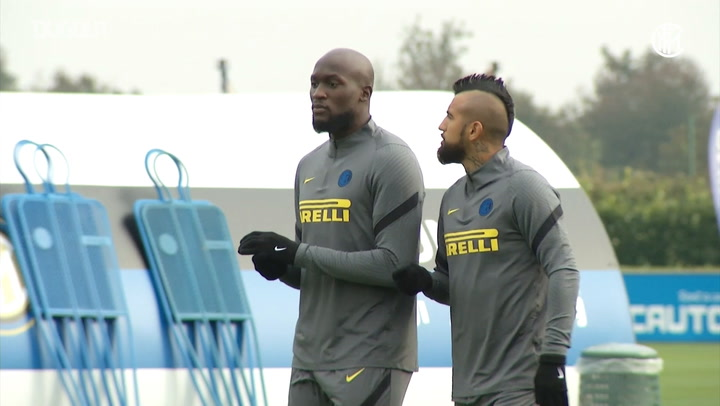 Inter's last training session before opening Champions League game