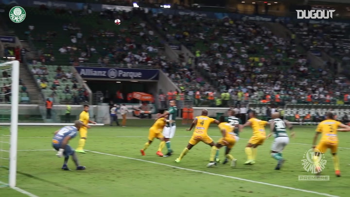 Primeiro gol de Felipe Melo com a camisa do Palmeiras