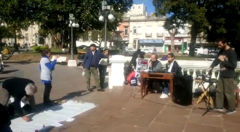 Ambientalistas se reunieron en la plaza por el Día Mundial contra Monsanto