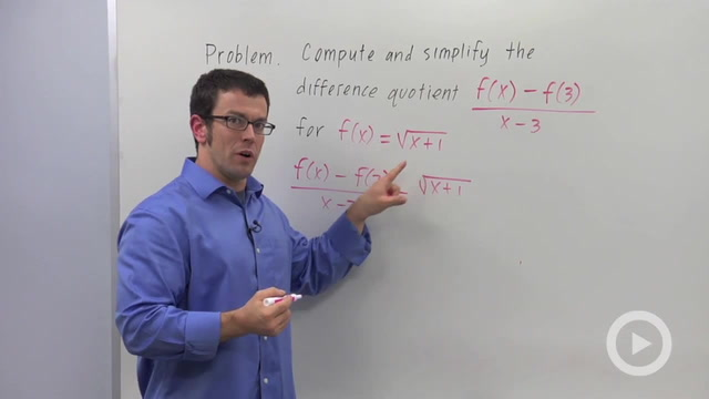 Computing Difference Quotients - Problem 3