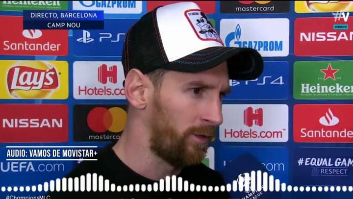 """Messi: """"Lo de Cristiano y la Juventus fue impresionante"""