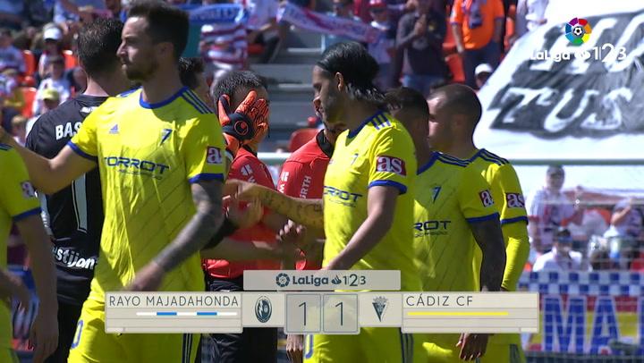 LaLiga 123: Resumen y Goles del partido Rayo Majadahonda (1) - (1) Cádiz del 28/04/2019