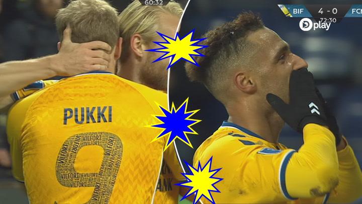 Highlights: Flot Pukki-hattrick sender FCN i sænk og BIF til tops