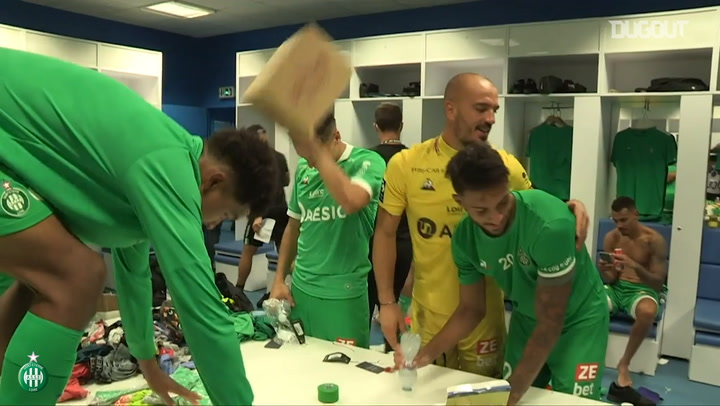 Behind the scenes of Saint-Etienne celebrations after beating OM