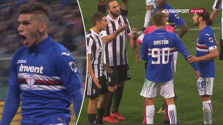 Highlights: Juventus banket af Sampdoria i dramatisk opgør