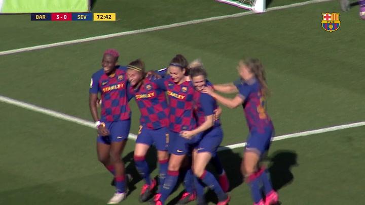 El Barça femenino supera la resistencia del Sevilla (3-0)