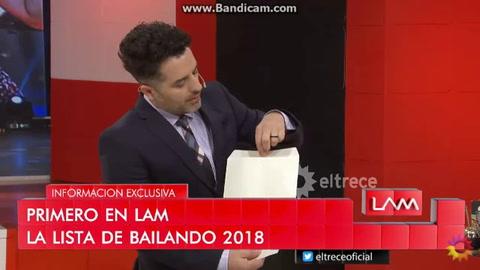 La lista de participantes que suena para el Bailando 2018
