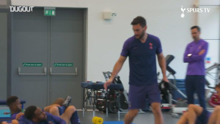 Hugo Lloris begins rehabilitation