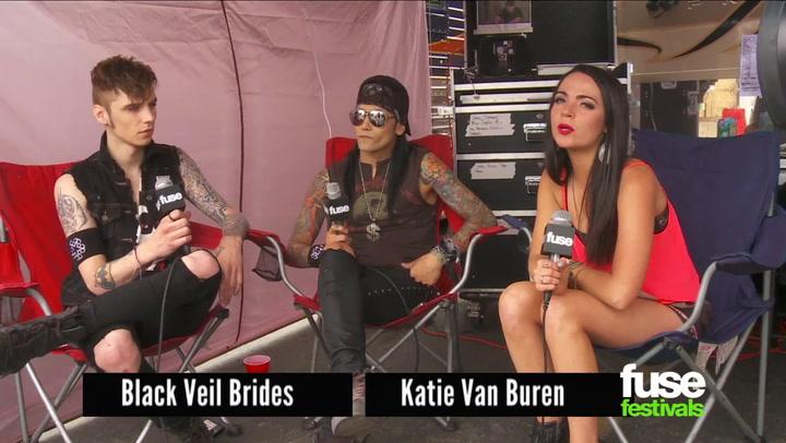 Festivals: Warped Tour: 2013: Black Veil Brides Have Had Bottles of Pee Thrown at Them