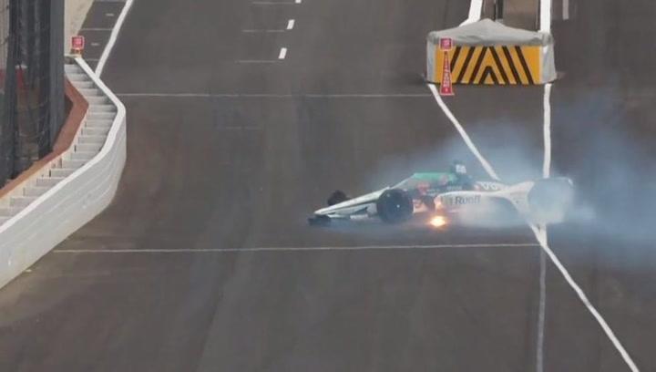¡Accidente de Alonso contra el muro al final del segundo día en Indianápolis!