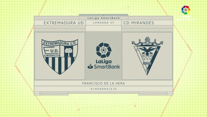 LaLiga SmartBank (J29): Resumen y goles del Extremadura 3-2 Mirandés