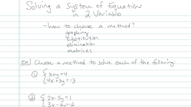 Solving a System of Linear Equations in Two Variables - Problem 9