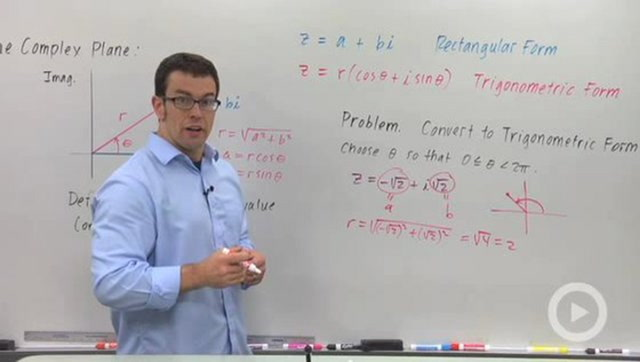 Converting Complex Numbers From Rectangular Form to Trigonometric