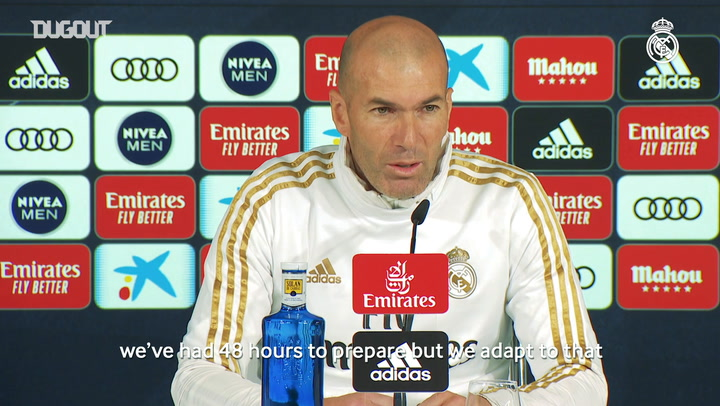 Zinedine Zidane: 'We've got an important match against La Real'