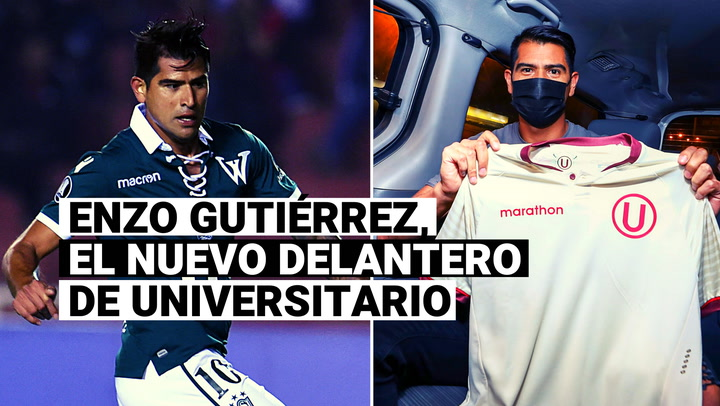 Repasa la trayectoria de Enzo Gutiérrez, refuerzo de Universitario