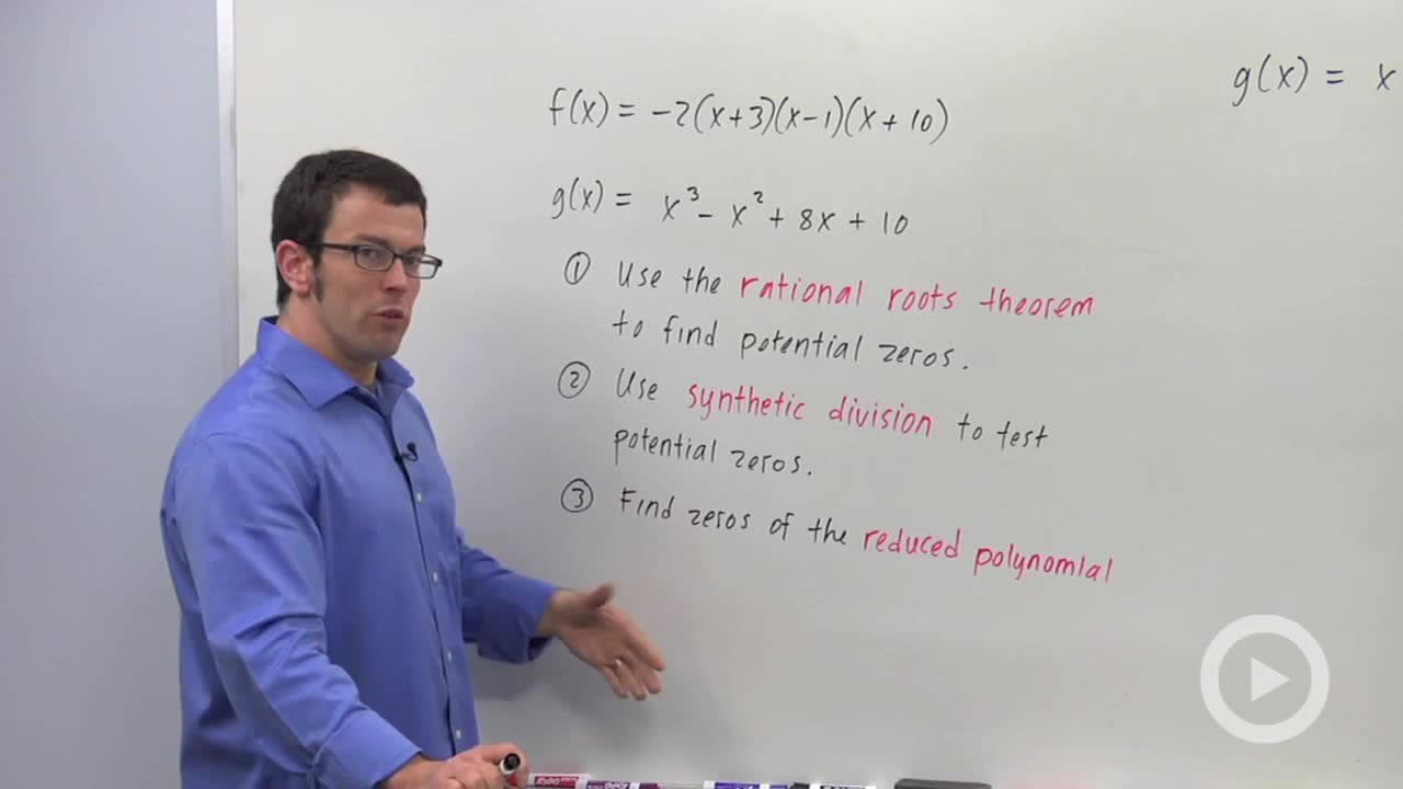 Finding Zeros Of A Polynomial Function  Concept  Precalculus Video By  Brightstorm
