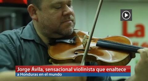 Jorge Ávila, sensacional violinista que enaltece a Honduras en el mundo