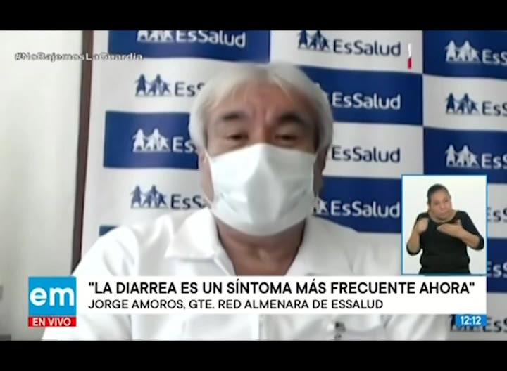 Coronavirus: EsSalud advierte que la diarrea es el síntoma más frecuente
