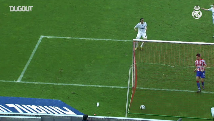 Marcelo's first goal with Real Madrid