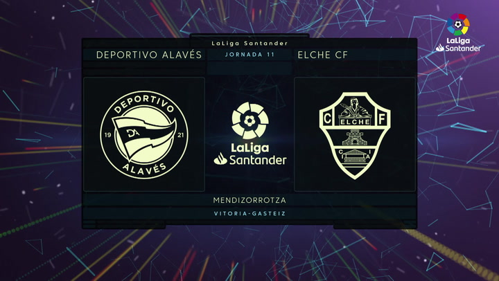LaLiga Santander (Jornada 11): Alavés 1-0 Elche