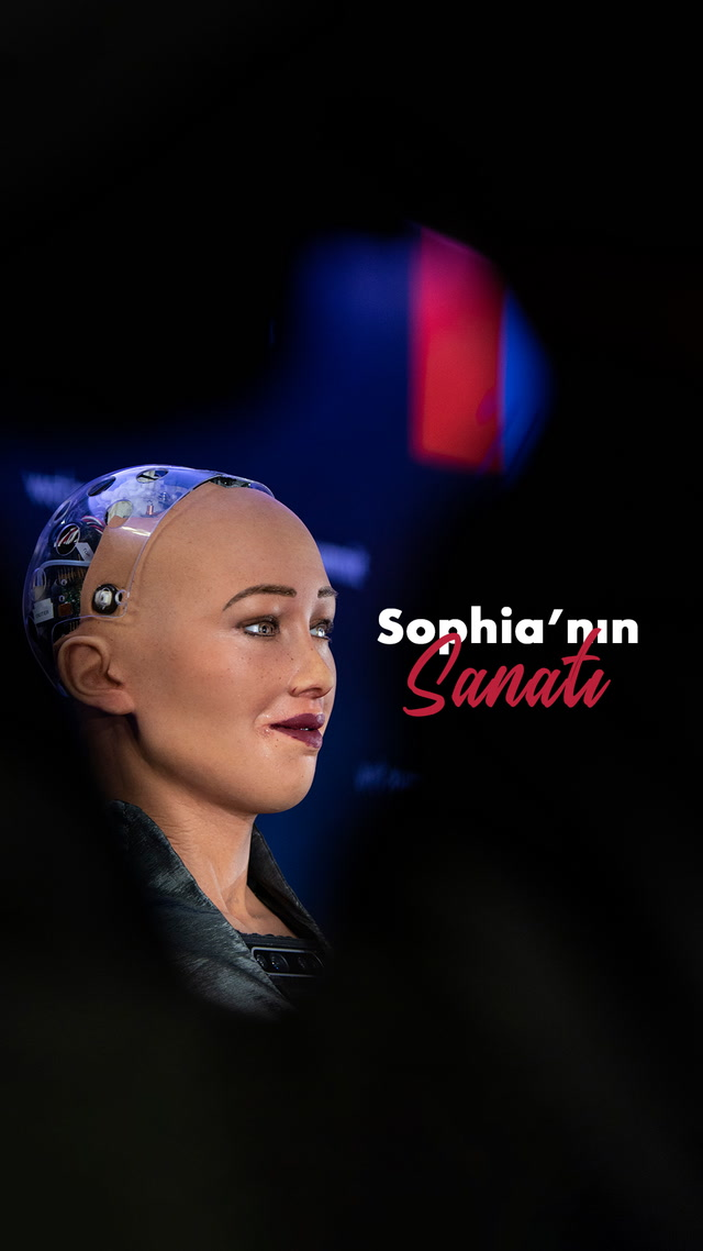 Sen de mi sanatçı oldun robot Sophia?