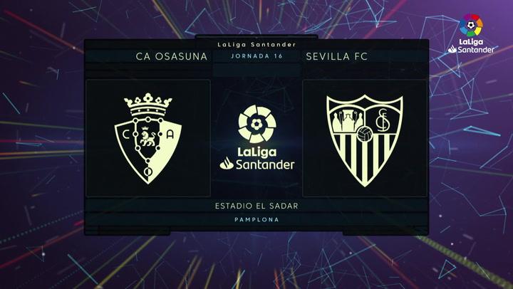 LaLiga (J16): Resumen y goles del Osasuna 1-1 Sevilla