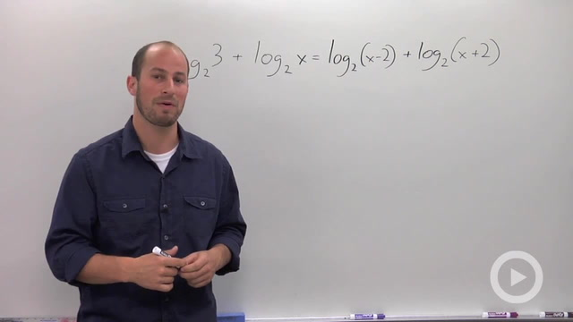 Solving a Logarithmic Equation with Multiple Logs - Problem 3