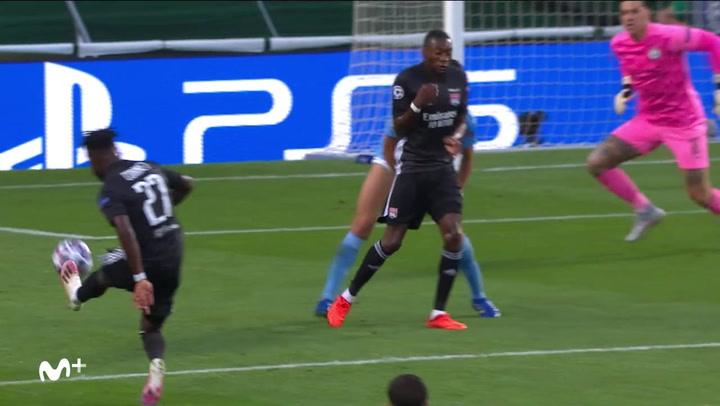 Champions League Manchester City-Lyon. Gol de Cornet (0-1)
