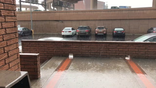 Rain near the Spaghetti Bowl in central Las Vegas