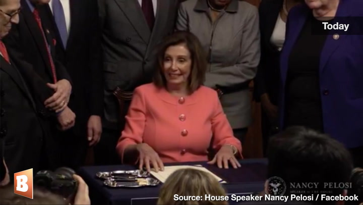 Did Pelosi Sign Articles of Impeachment with a 'Heavy Heart'?