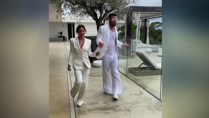 Elsa Pataky y Chris Hemsworth se marcan un baile no apto para tímidos