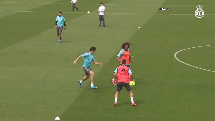 Último entrenamiento del Real Madrid antes de visitar al Athletic Club