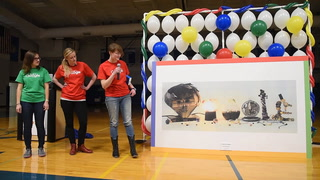 Hanson High School senior Tasha Determan explains her Doodle 4 Google entry