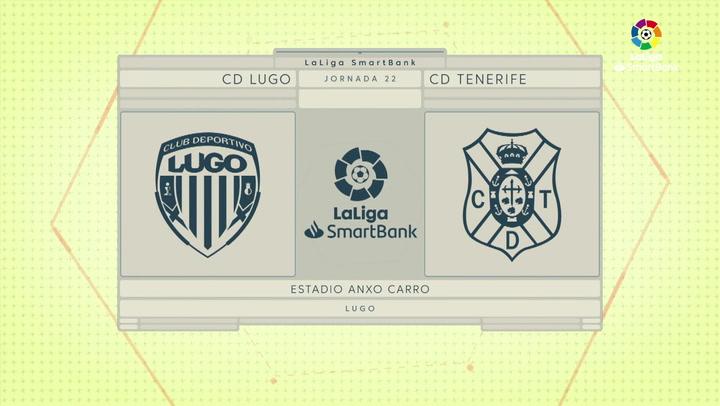LaLiga SmartBank (J22): Resumen y goles del Lugo 2-0 Tenerife