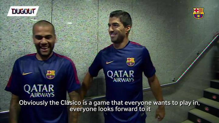 Luis Suárez Talks El Clásico With Dugout!