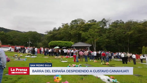Barra del Real España despidiendo a Gustavo Canahuati