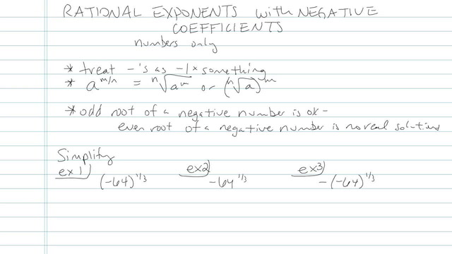 Rational Exponents with Negative Coefficients - Problem 4