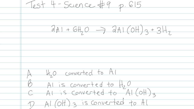 Test 4 - Science - Question 9