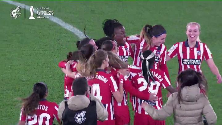 Resumen del Atlético-Levante, final de la Supercopa femenina