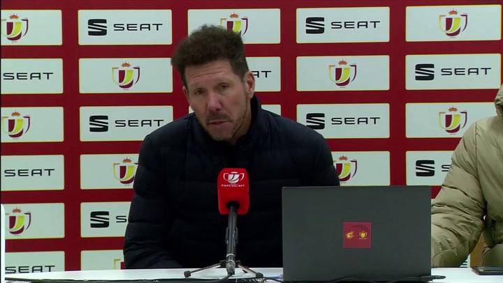 """Simeone, en titulares: """"Quisimos hacerlo bien, pero nos superaron"""""""