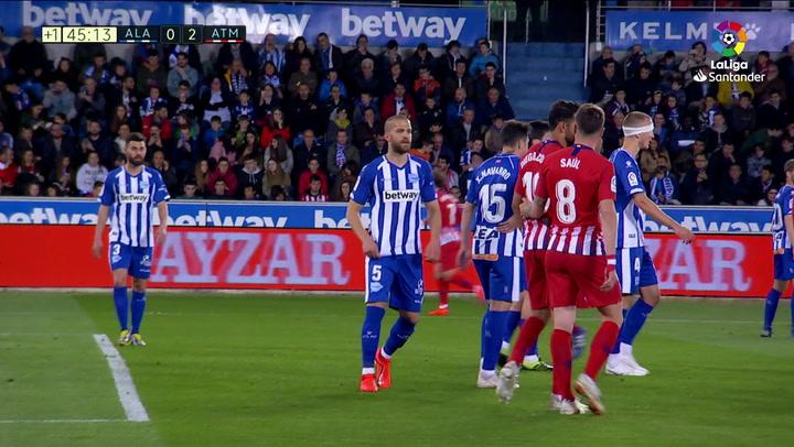 LaLiga: Alavés - Atlético Madrid. Diego Costa se lesiona en el minuto 42