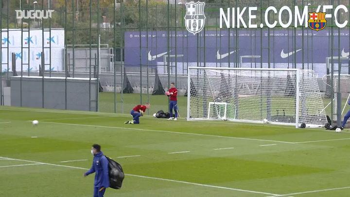 FC Barcelona's last training session ahead of Atletico Madrid