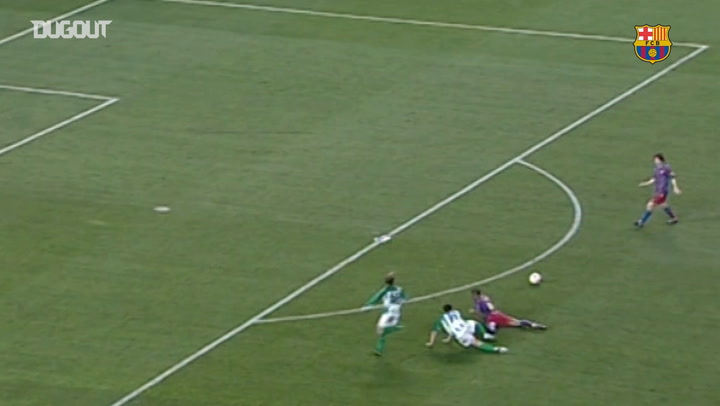 Messi's first ever goal against Real Betis