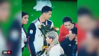 Cristiano Ronaldo descuida la copa por un segundo y esto sucede: su hijo la pagó caro