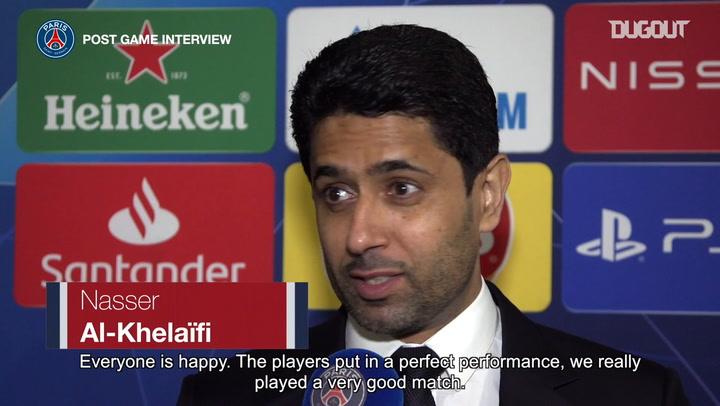Nasser Al-khelaïfi: 'It's very important to remain calm'