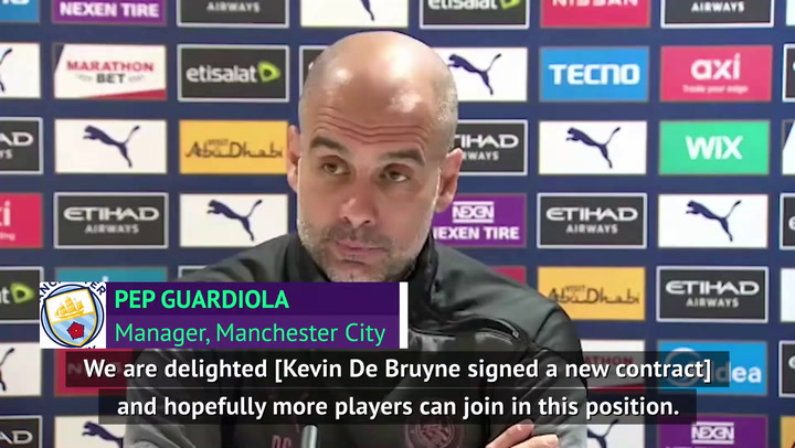 De Bruyne contract extension a 'compliment' to Man City - Guardiola