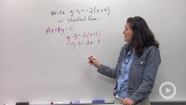 Standard Form of Linear Equations - Problem 2