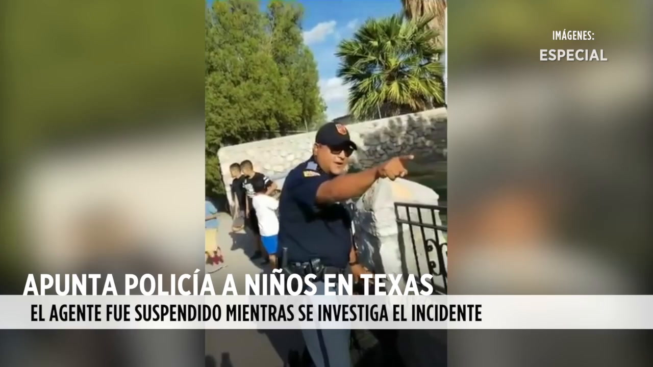 Video: Apunta policí­a a niños en Texas