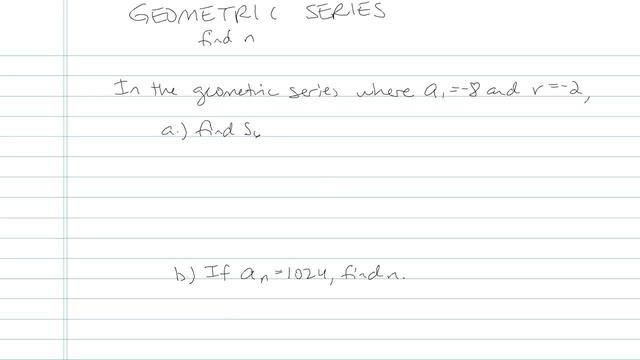 Geometric Series - Problem 10