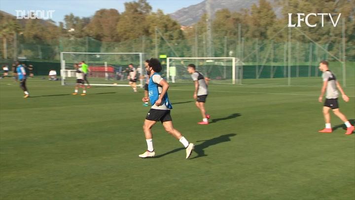 Ballon d'Or Contender Mo Salah Bossing Liverpool Training